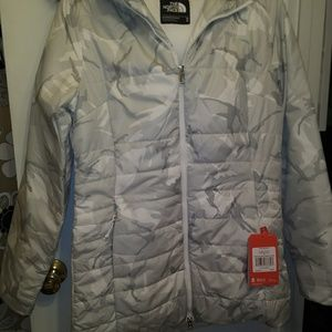 The North Face Jackets & Coats - The north face jacket new camo print hood fur trim